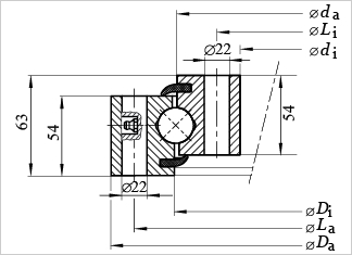 SU625 slewing bearing
