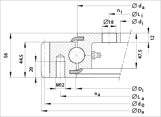 VE20 slewing bearing